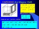 cardano ars magna 1545
