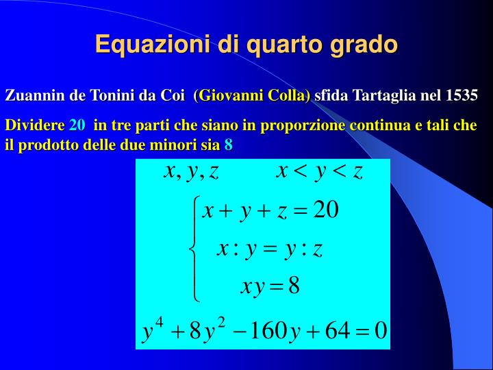 Equazioni di quarto grado