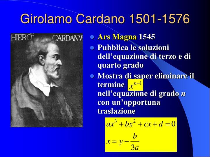 Girolamo Cardano 1501-1576