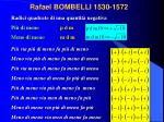 rafael bombelli 1530 1572
