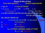 sharaf al din al tusi teoria delle equazioni soluzioni approssimate