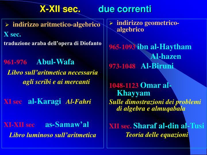 indirizzo aritmetico