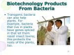 biotechnology products from bacteria1