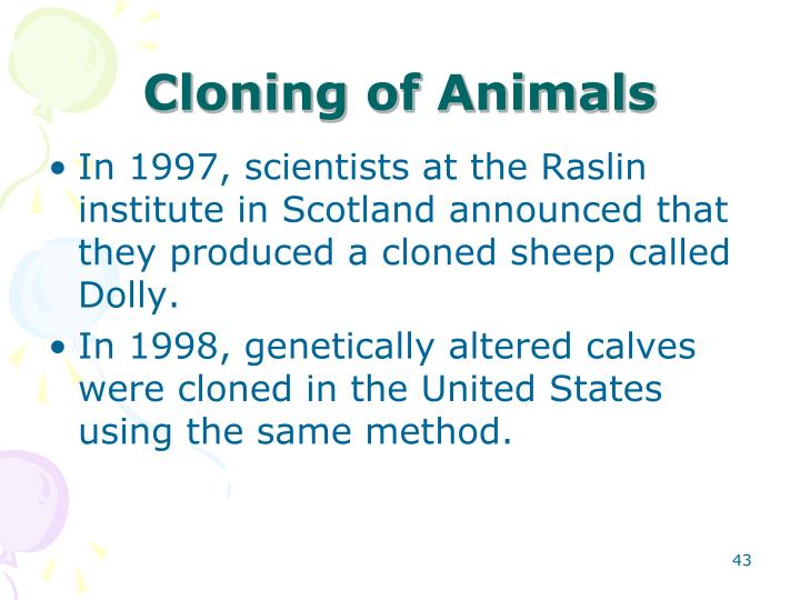 Cloning of Animals
