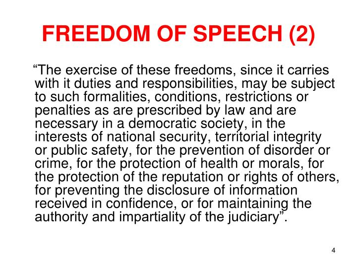 FREEDOM OF SPEECH (2)