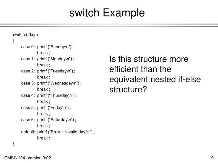 switch Example