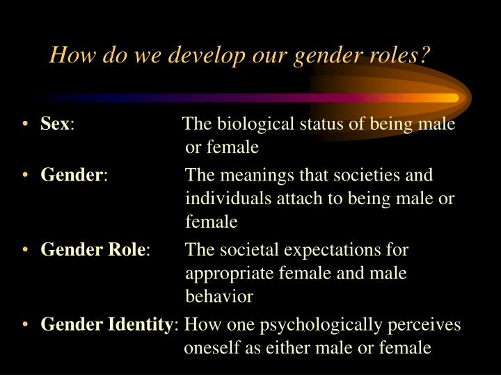 How do we develop our gender roles?