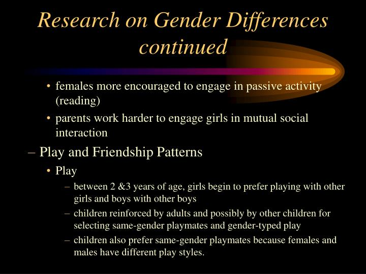 Research on Gender Differences