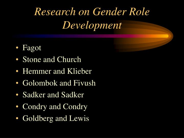 Research on Gender Role Development