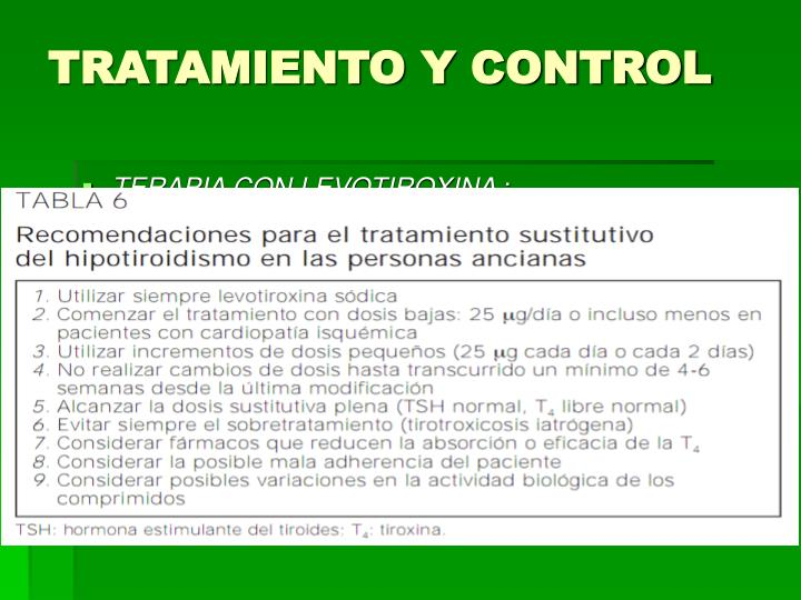 TRATAMIENTO Y CONTROL