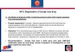ap 2 registration of foreign new drug1