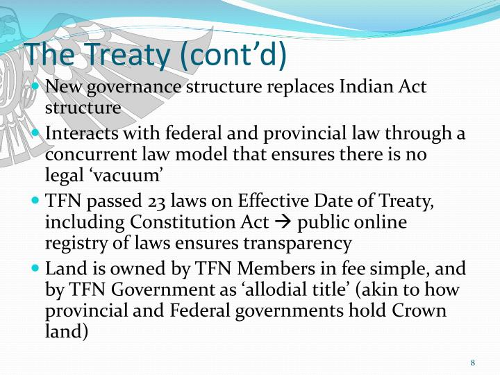 The Treaty (cont'd)