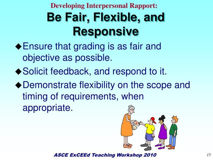 Developing Interpersonal Rapport: