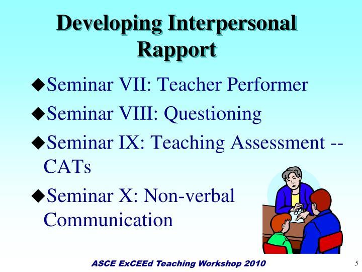 Developing Interpersonal Rapport