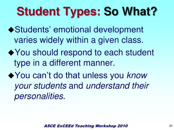 Student Types: