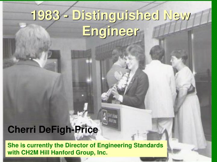 1983 - Distinguished New Engineer