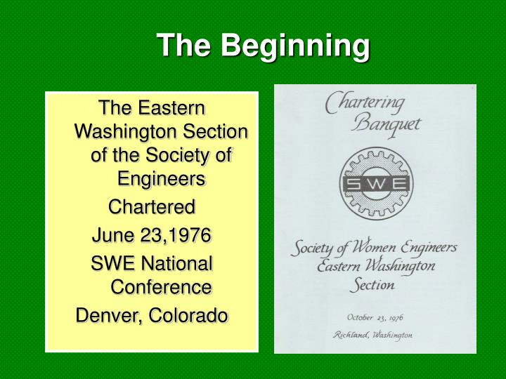 The Eastern Washington Section of the Society of Engineers