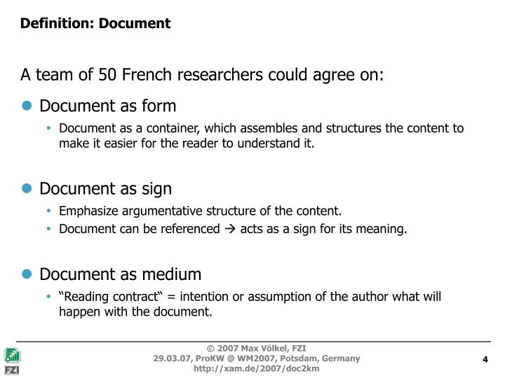 Definition: Document