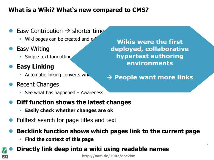 What is a Wiki? What's new compared to CMS?