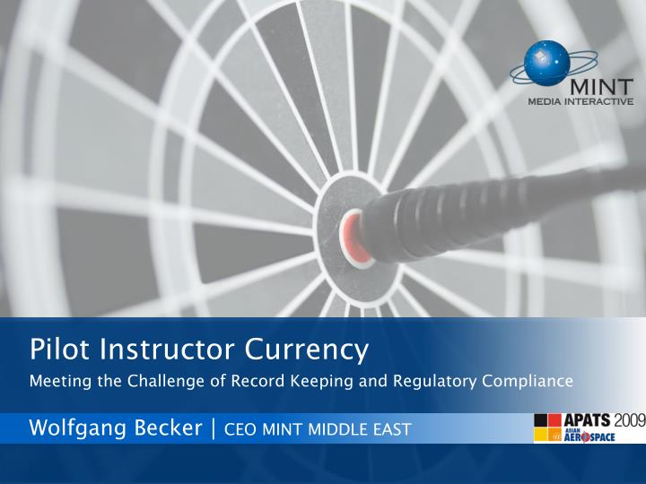 Pilot Instructor Currency