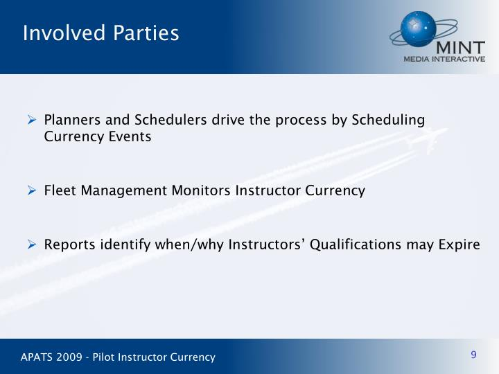 Planners and Schedulers drive the process by Scheduling Currency Events