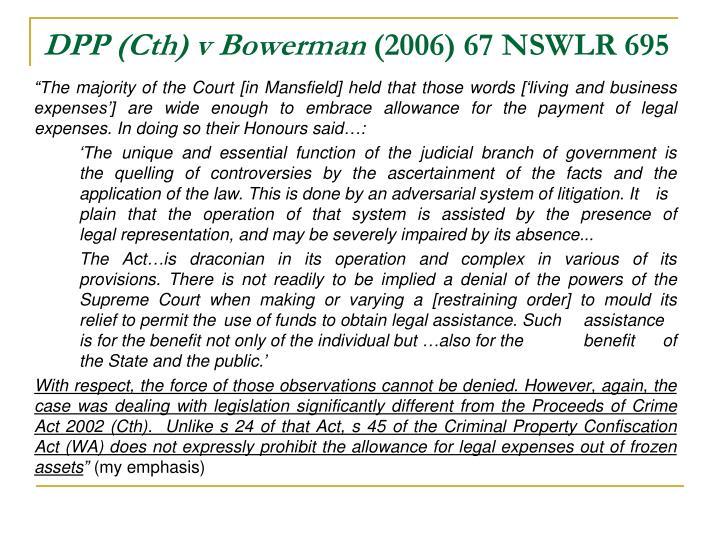 DPP (Cth) v Bowerman