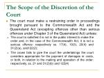 the scope of the discretion of the court1
