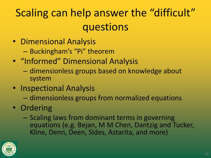 "Scaling can help answer the ""difficult"" questions"
