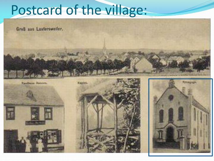 Postcard of the village: