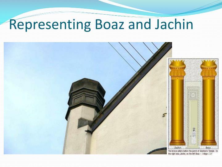 Representing Boaz and Jachin