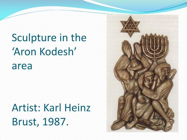 Sculpture in the 'Aron Kodesh' area