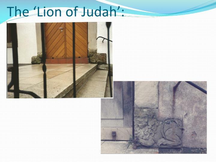 The 'Lion of Judah':