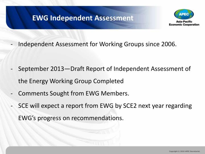 EWG Independent Assessment