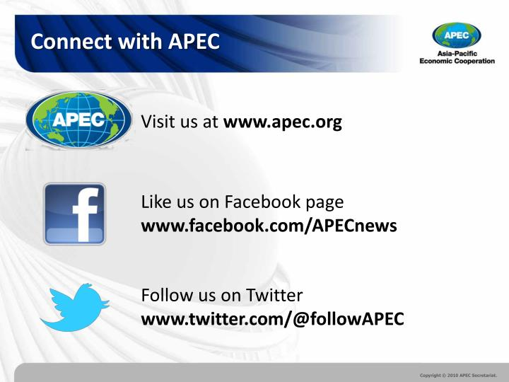 Connect with APEC