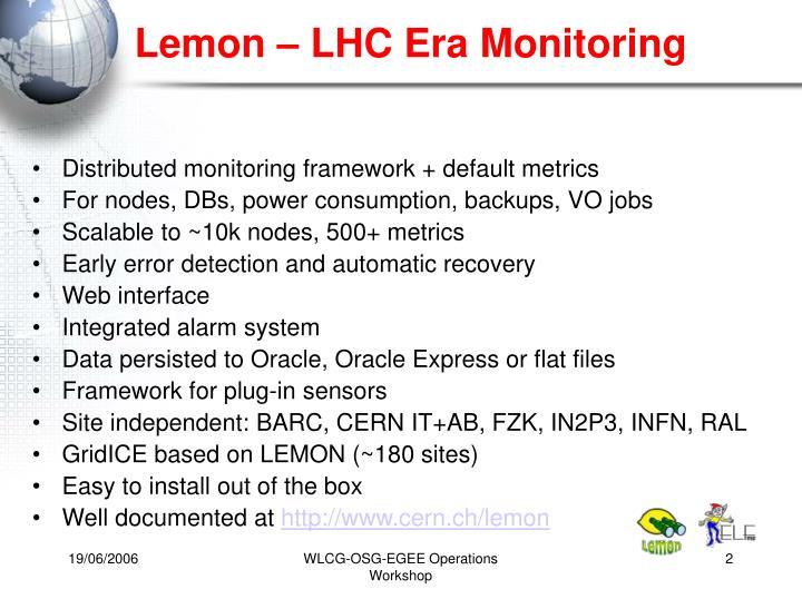 Lemon – LHC Era Monitoring