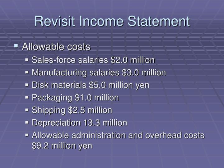 Revisit Income Statement