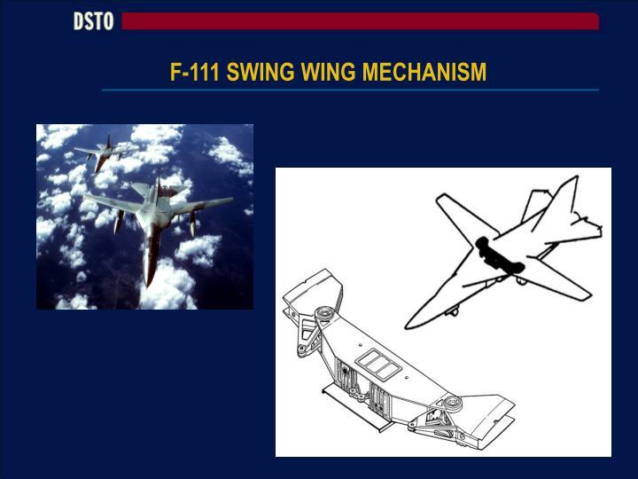 F-111 SWING WING MECHANISM