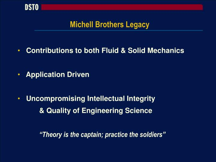Michell Brothers Legacy