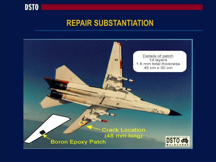 REPAIR SUBSTANTIATION