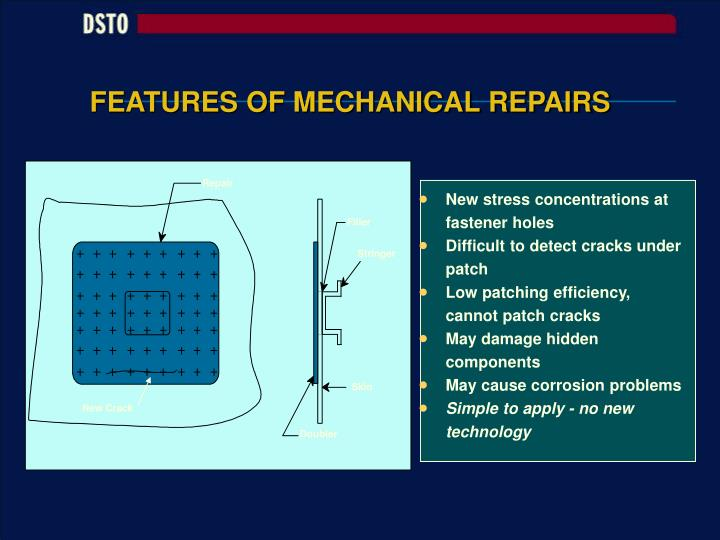 FEATURES OF MECHANICAL REPAIRS