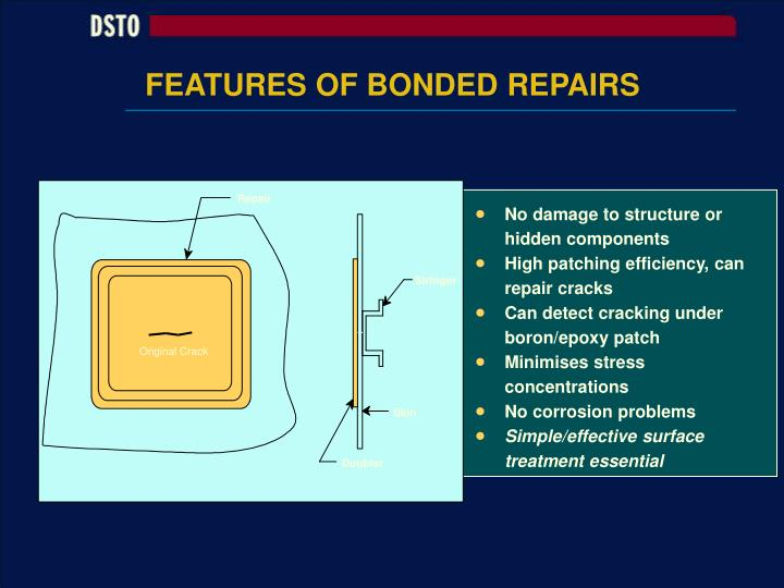 FEATURES OF BONDED REPAIRS