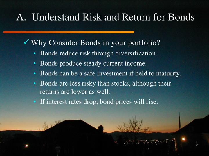 A.  Understand Risk and Return for Bonds