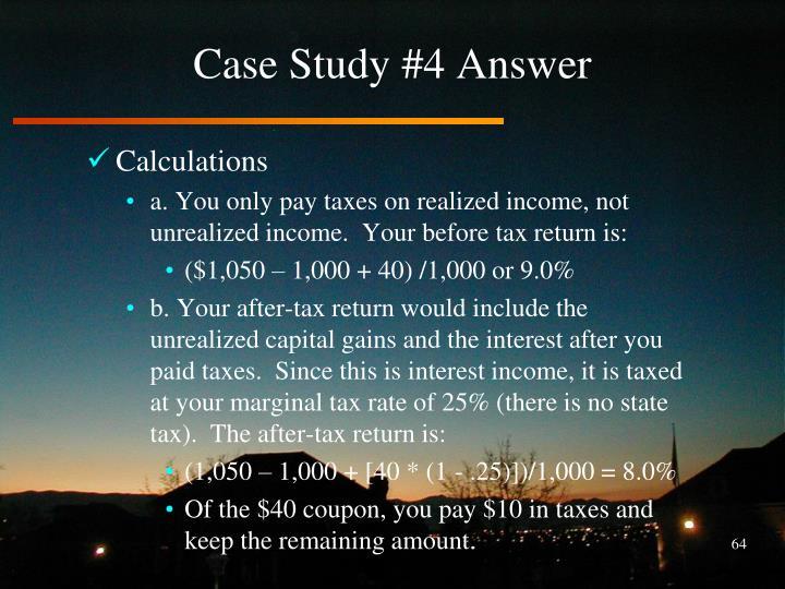 Case Study #4 Answer