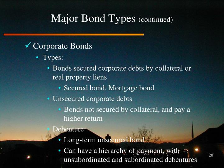 Major Bond Types
