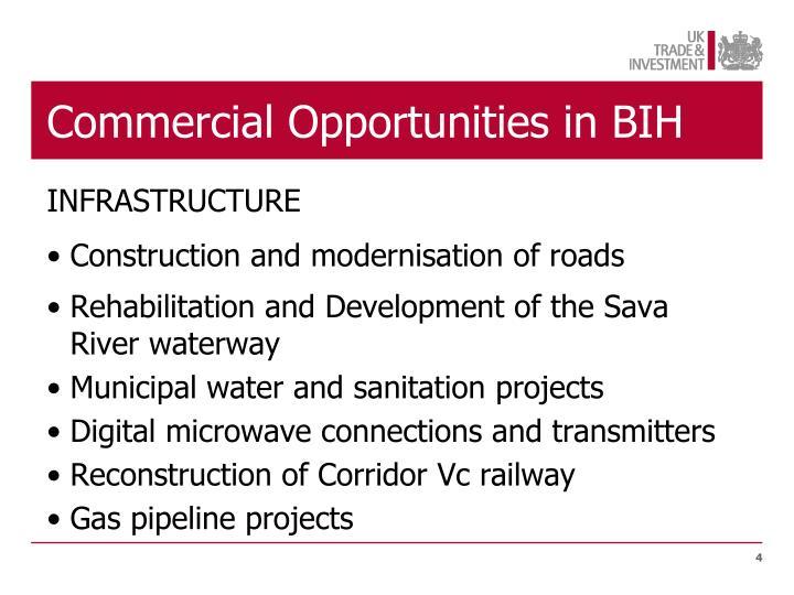 Commercial Opportunities in BIH