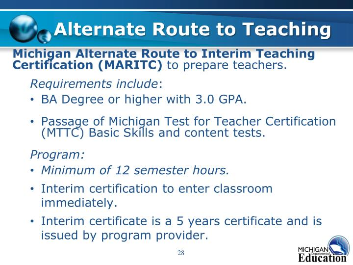 Alternate Route to Teaching