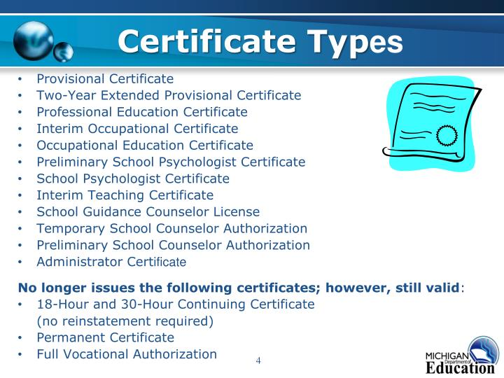 Certificate Typ