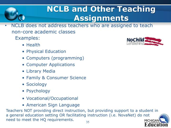 NCLB and Other Teaching Assignments