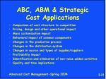 abc abm strategic cost applications