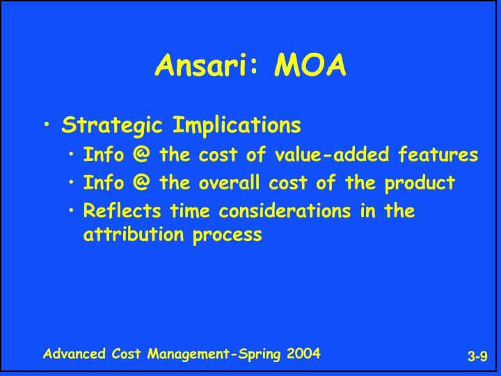 Ansari: MOA